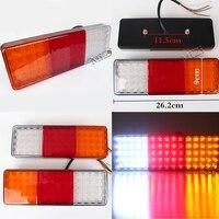 2pcs Set Car Truck Trailer 75 LED Rear Tail Light Brake Parking Turn Taillights Indicator Lamp