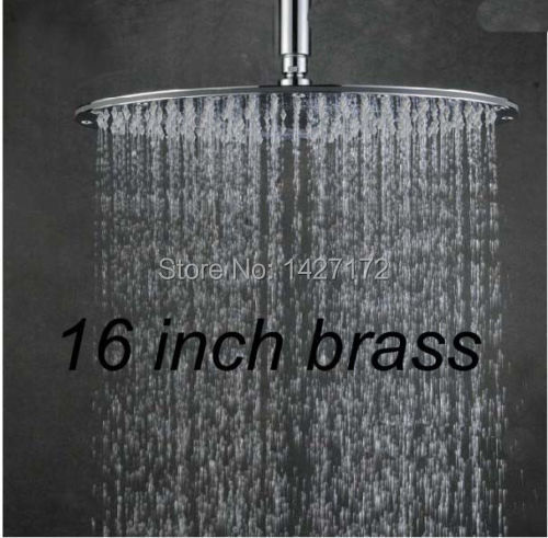 Bathroom Wall & Celling Mounted Brass Round Rain Shower Faucet Replacement 16(40cm) Shower Head Chrome Finish 1 10 inflatable tires 4p set air pneumatictires with alloy beadlock wheels set f rc crawler rock crawler tires toy cars parts