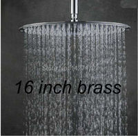 Bathroom Wall & Celling Mounted Brass Round Rain Shower Faucet Replacement 16(40cm) Shower Head Chrome Finish