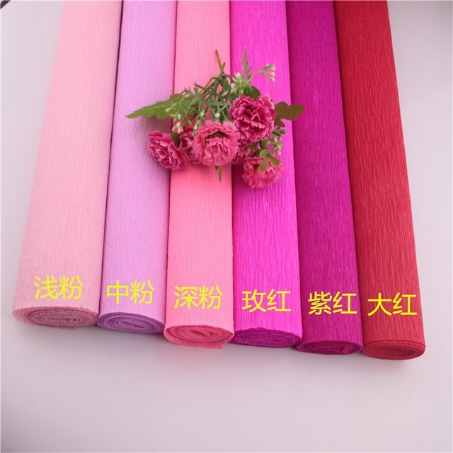 Online shop 250x50cm 50 roll diy flower making crepe papers wrapping 250x50cm 50 roll diy flower making crepe papers wrapping flowers packing material handmade diy wrapping paper craft decor mightylinksfo