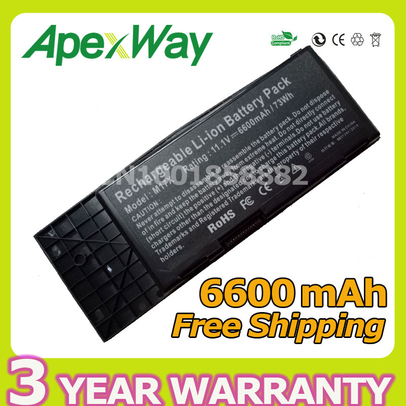 Apexway 6600mAh 9 cell Laptop Battery For DELL BTYVOY1 For Alienware M17X R3 R4 MX 17xR3 MX