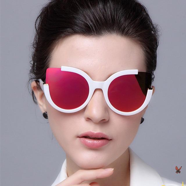 d7025f454 RunBird Rodada Sombra Moda Verão Óculos De Sol Das Mulheres Óculos De Marca  De Grife para