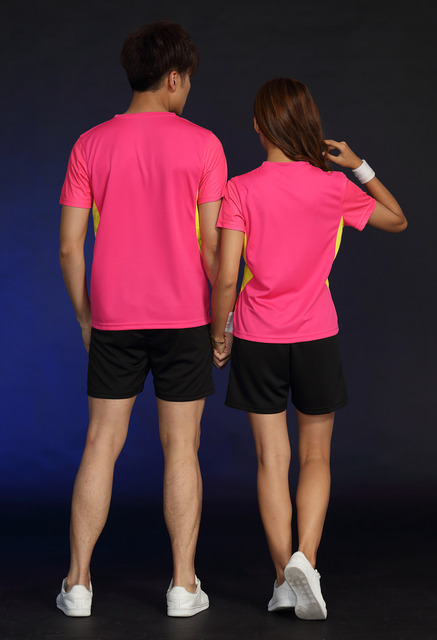 Free Printing Name Tennis wear shirt Women/Men's , sports Badminton shirts , Table Tennis tshirts, Quick dry sportswear 1835 1