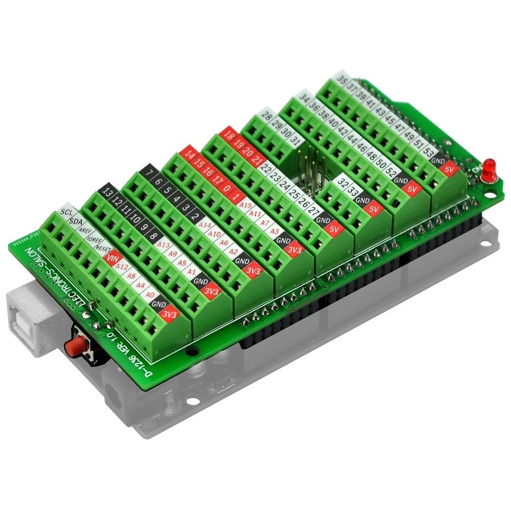 цена Electronics-Salon Screw Terminal Block Breakout Module, for MEGA-2560 R3. в интернет-магазинах