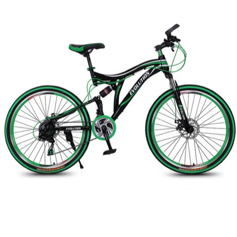 Flexible Tail Wheel Mountain Bicycle 3 Colors 26 Inch 21 Speed Double Disc Brake Aluminium Alloy Folding For Adult  Road Bike