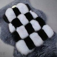 2017 Winter Coat For Women Faux Fox Fur Coats Vest Coat Female Manufacturers Directly Sale Wholesale
