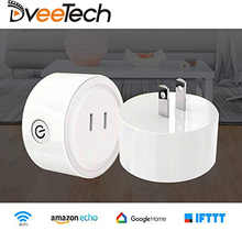 Dveetech Smart Wifi Socket with Power Monitor Wifi Smart Socket with Google Home Amazon Alexa IFTTT Remote Control Timing on/off