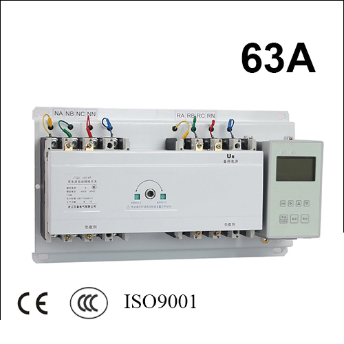 63A 3 poles 3 phase ats 220V/ 230V/380V/440V automatic transfer switch with English controller fast shipping 6 pins 5kw ats three phase 220v 380v gasoline generator controller automatic starting auto start stop function