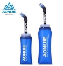 AONIJIE TPU Outdoor Sport Bottle Soft Water Flask Hiking Running Sports Bottles Folding BPA Kettle 350ML/600ML