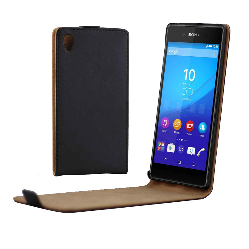Vertical PU Leather <font><b>Flip</b></font> <font><b>Case</b></font> Fundas Capa For <font><b>Sony</b></font> Xperia <font><b>Z4</b></font> Cover Up-Down Open skin pouch Mobile Phone Bags image