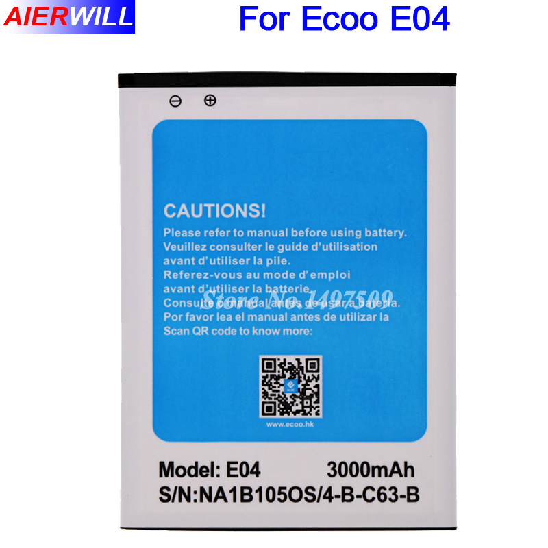 For Ecoo E04 Battery for Bluboo X6 Blackbanner Plus Batterie Bateria AKKU Accumulator 3000mAh