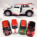 1:28 MINI Paceman model car, sound and light alloy pull back toy car child gift collectibles, 4 colors