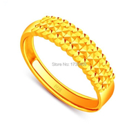 Pure 999 24K Yellow Gold Ring / Bless Full Star Ring / 4.2g Us Size 4 11
