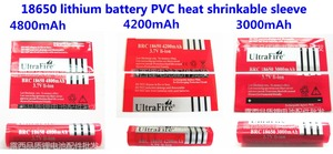 Image 2 - 100ピース/ロット18650リチウム電池パッケージスリーブ、収縮スリーブ、バッテリーカバー、pvcシース熱収縮フィルム3400mah