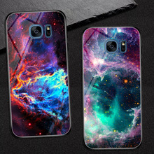 Goterfly glass phone case 5.5 for Samsung galaxy S7 Edge painted protective back cover cases Galaxy s7edge SM-G935F