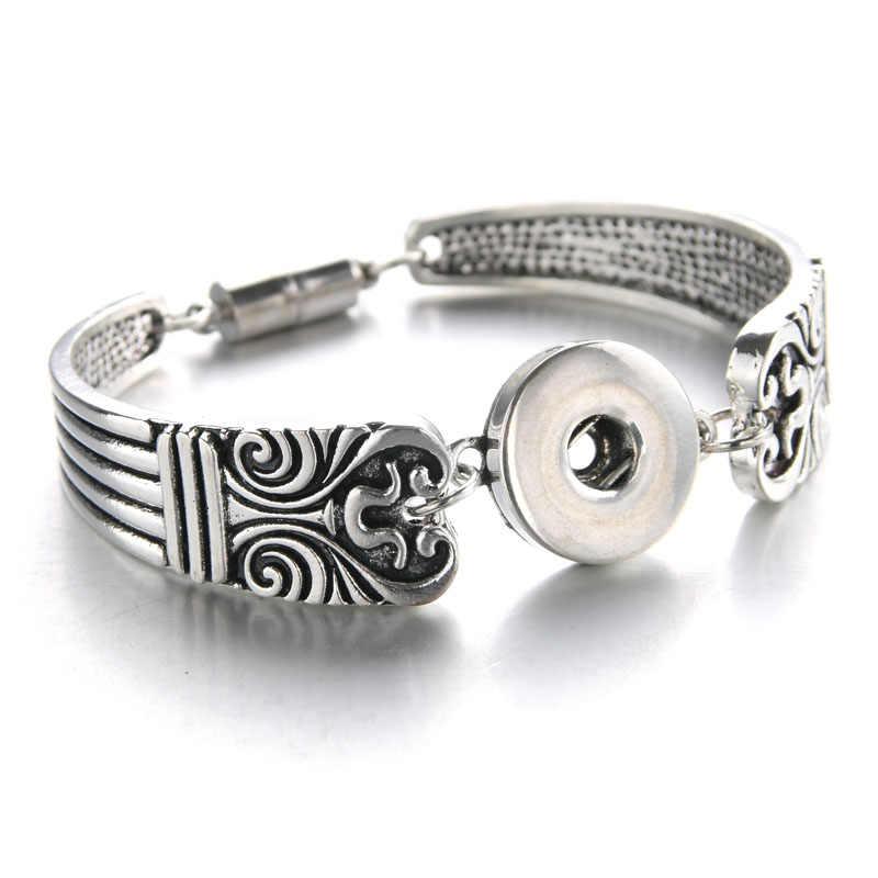 2018 magnes czeski zegarki kobiety biżuteria przystawki biżuteria Pulseras najnowszy Vintage 18mm zatrzask metalowy przycisk bransoletka 040906