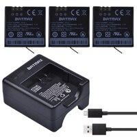 2PCS High Capacity 1400mAh Batteries And Dual USB Charger For XiaoYi 4K Action Camera II 2