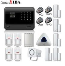 SmartYIBA WIFI App GSM GPRS Alarm System Remote Control Home Appliance Blue Strobe Siren Relayout Door/Window Sensors Alarm