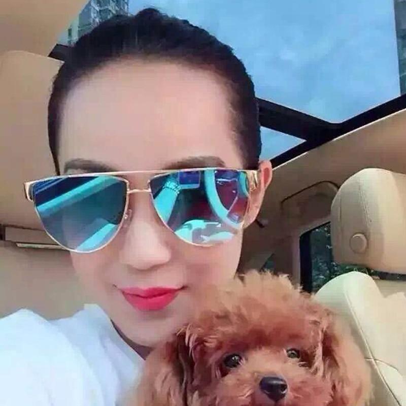 Aliexpress.com Comprar 2016 moda gafas de sol para mujer de lujo Flat Top  Designer mujeres espejo gafas de sol para mujer Retro tonos gafas de sol  UV400 de