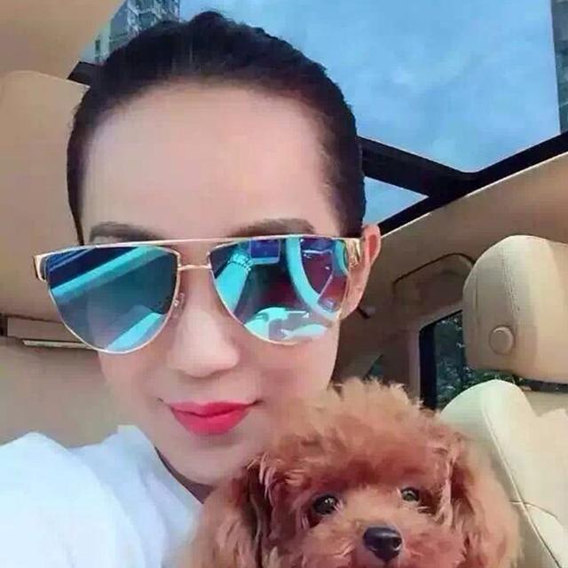 14ce60c8 € 7.07 |2016 moda gafas de sol para mujer de lujo Flat Top Designer mujeres  espejo gafas de sol para mujer Retro tonos gafas de sol UV400 en ...
