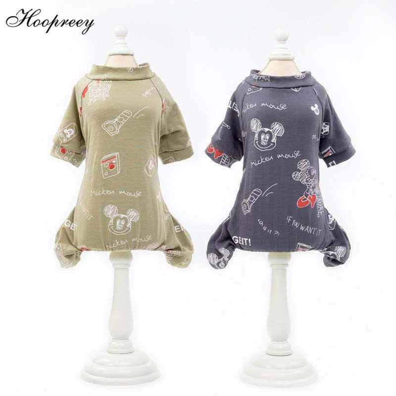 Spring Leisure Dog Clothes for Small Puppy Dogs Soft Cotton Dog Jumpsuit Chihuahua Teddy Pet Pajama Four Legs Pet Clothes 10A