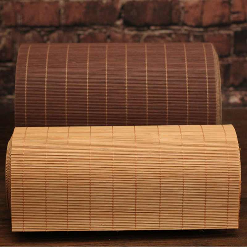 Portable Kitchen Teaism Bamboo Mat for Tea Tableware Insulation Pad Tea Table Solid Placemat Tea Curtain Teahouse Decoration