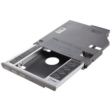 Sata 2nd disco rígido drive hdd bay caddy adaptador para dell latitude d600 d610 d620 d630 prata(China)
