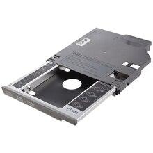 SATA 2nd жесткий диск HDD Защитный Контейнер для устройств считывания и записи информации адаптер для ноутбука Dell Latitude D600 D610 D620 D630 серебро
