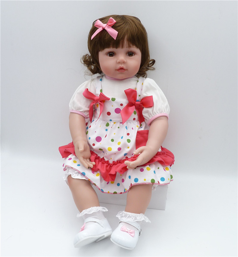 55cm Silicone Reborn Baby Doll Toys Lifelike Vinyl Princess Toddler Babies Dolls Fashion Birthday Present Gift Girls Brinquedos silicone reborn toddler baby doll toys for girl 52cm lifelike princess dolls play house toy birthday christmas gift brinquedods