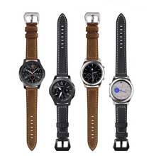 Classic Leather Strap For Samsung Gear S3 Band Frontier galaxy watch 46mm Men womens Bracelet watches