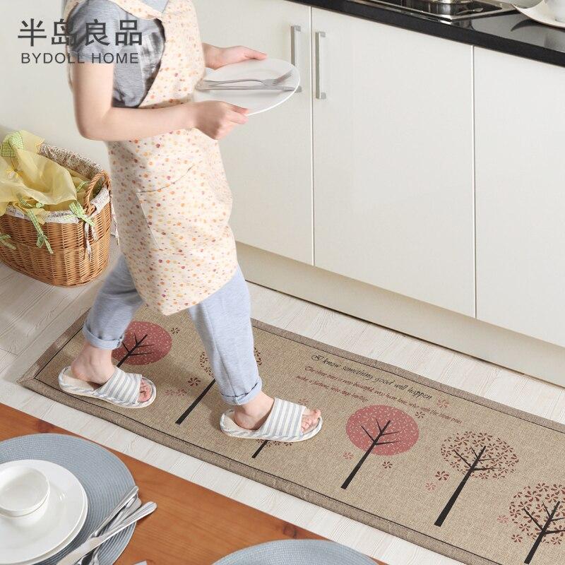50X80 CM + 50X160 CM/Set paillasson antidérapant tapis de cuisine/tapis de bain accueil entrée tapis de sol couloir tapis tapis de cuisine - 3