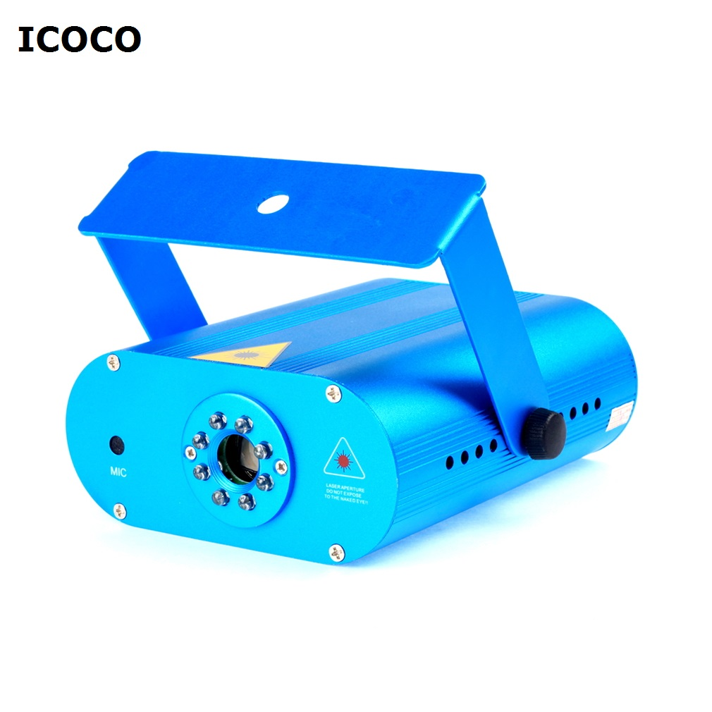 ICOCO New Mini DJ Laser Stage Lighting Light Disco Party Club Galaxy Projector rg mini 3 lens 24 patterns led laser projector stage lighting effect 3w blue for dj disco party club laser