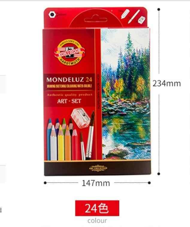 24/36/48/72 Koh-i-noor Mondeluz Aquarell Juego de dibujo lápices de colores solubles acuarela lápices para escribir dibujo arte suministros