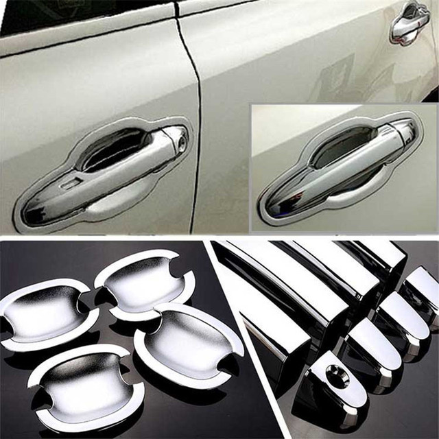 $ 20.99 Non-Rusty Chrome Door Handle Bowl Cover Cup Overlay Trim For Toyota Highlander 2015-2016
