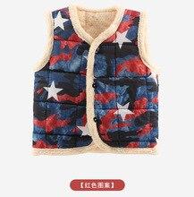 Autumn Winter Baby Outerwear Thick Warm Waistcoat Cartoon Cotton Infant Vest Coat Childrens Vests
