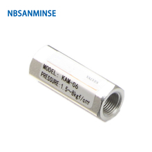 NBSANMINSE KAM Check Valve 1/8 1/4 3/8 1/2 Two Way Pneumatic Air Valve Normal Temperature Mechanical Valve High Quality 2 5 3 8pt 1 2pt male thread 3 way metal air compressor check valve gold tone