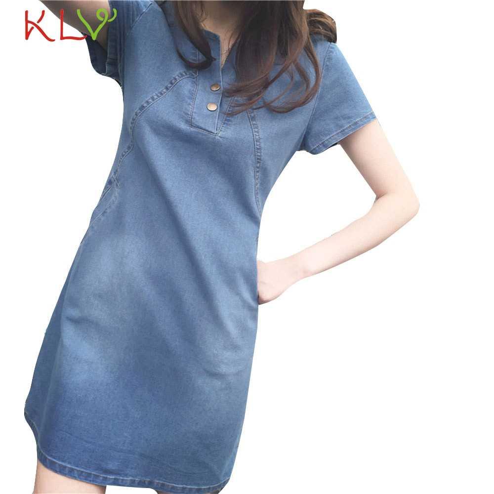 Платье женское сексуальное 5XL плюс Размер джинсовое Элегантное Длинное Повседневное платье для женщин вечернее платье Femme Hiver 2019 19Jan29