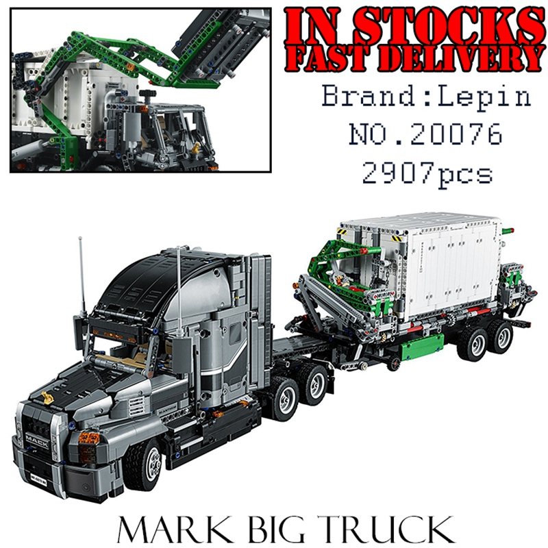 LEPIN Techinc 20076 2907PCS big truck Building Blocks Bricks educational toys for children Christmas gifts brinquedos lepin 20076 technic series the mack big