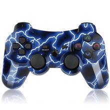 Для PS3 контроллер беспроводной двойной шок Bluetooth джойстик игровой контроллер для Playstation 3 с зарядным кабелем джойстик