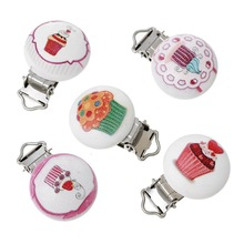 Metal Wooden Baby Pacifier Clips Cartton Animal Holders Cute Infant Soother Clasps Holders Accessories