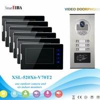 SmartYIBA Video Door Intercom Kits For 2 to 12 Stories Buildings Apartments RFID Doorbell Door Phone Intercom Security System