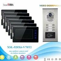 Smartyiba видео Домофон Наборы для 2 до 12 сториз зданий квартир RFID Дверные звонки домофон внутренней безопасности Системы