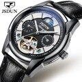 Мужские часы Лидирующий бренд Роскошные многофункциональные Мужские механические часы Высокое качество кожаный ремешок мужские часы Relogio ...