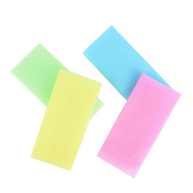 Nylon Japanese Exfoliating Beautiful Skin Bath Shower Wash Cloth Towel Back Scrub Body Cleaning Washing Sponges& Scrubbers 2