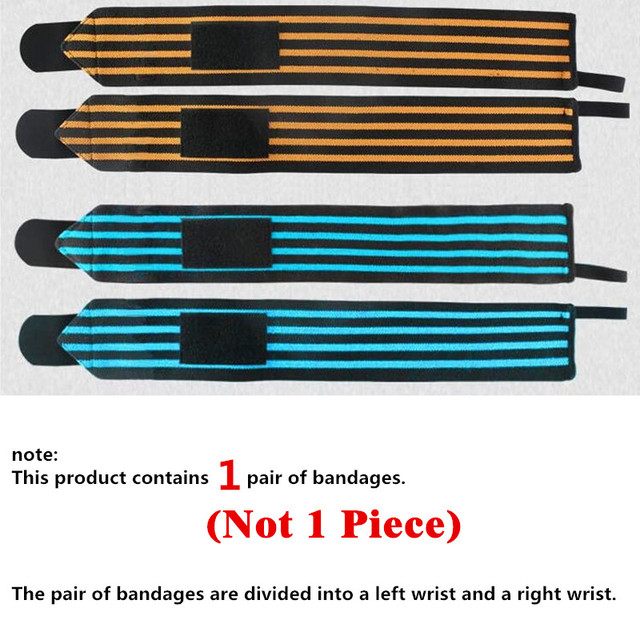 1 Pair WeightLifting Fitness Gloves Gear Weight Lifting Gym Equipment  Body Building Crossfit Wrist Support Wraps Brace L346 4