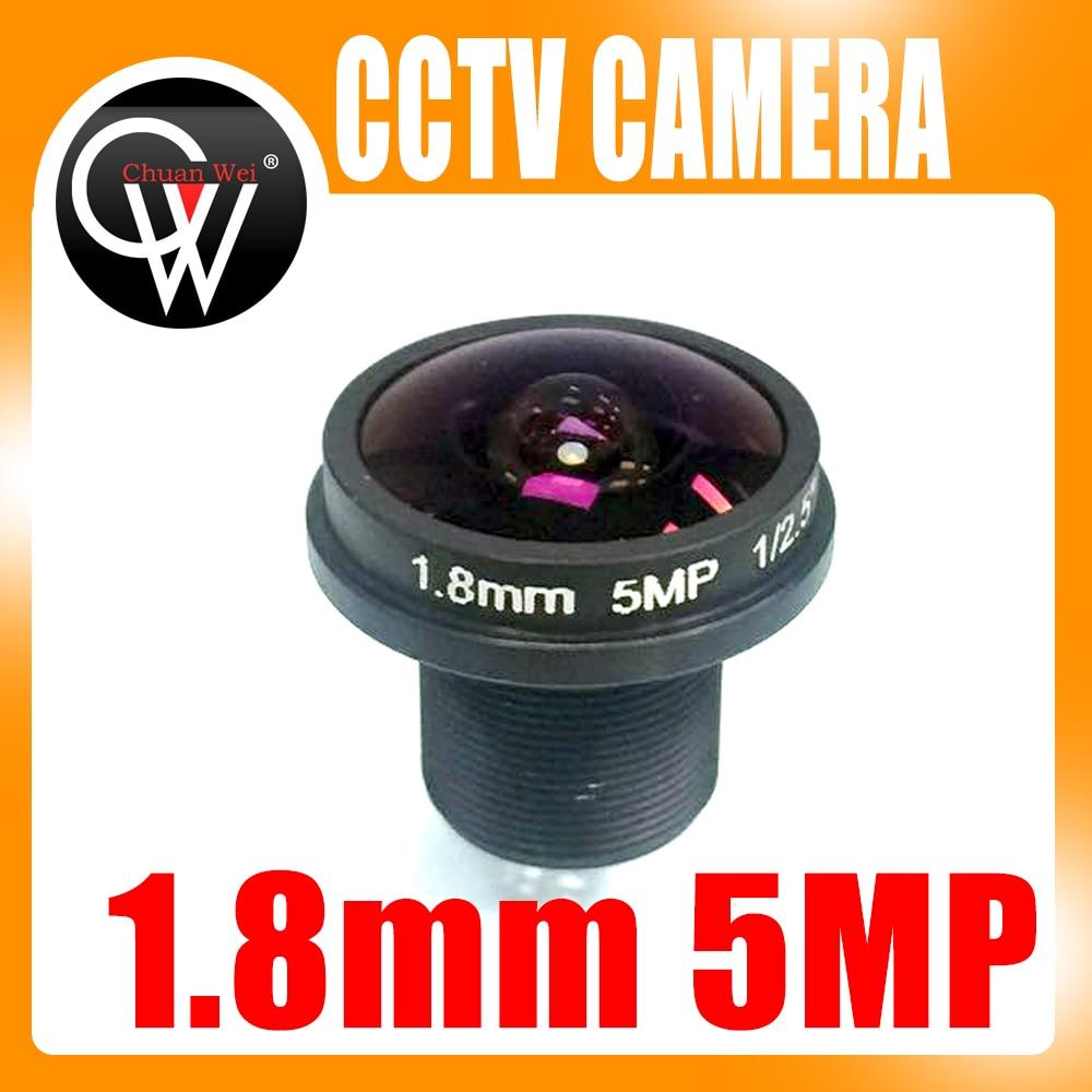 5mp 1.8mm 180 Degree CCTV MTV Board IR Lens Fisheye Lens For Security CCTV Video 1080P IP CameraCameras