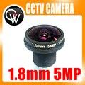 CCTV lente 1.8mm 180 grados 5MP CCTV IR Junta Lente MTV Lente Ojo de Pez para CCTV de Seguridad de Vídeo 1080 P IP cameraCameras