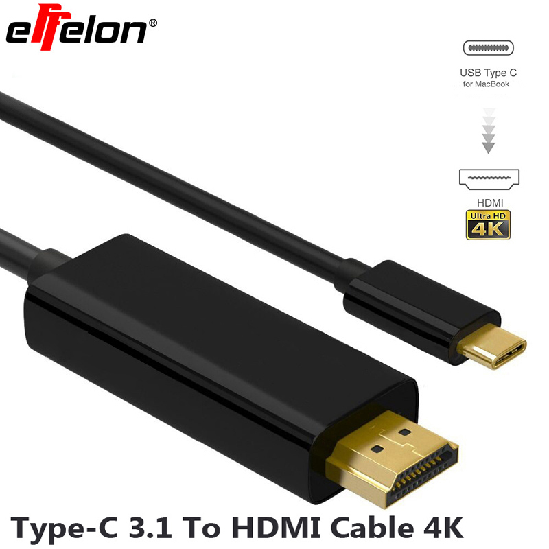 effelon usb 3 1 type c thunderbolt 3 compatible to hdmi. Black Bedroom Furniture Sets. Home Design Ideas