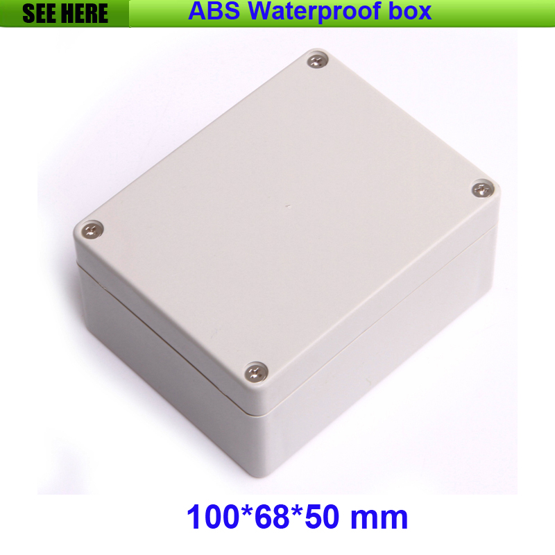 Free Shipping Electrical Cabinet ABS Plastic Enclosure 100*68*50mm Plastic Junction Box, Waterproof Enclosure 1 piece free shipping plastic enclosure for wall mount amplifier case waterproof plastic junction box 110 65 28mm