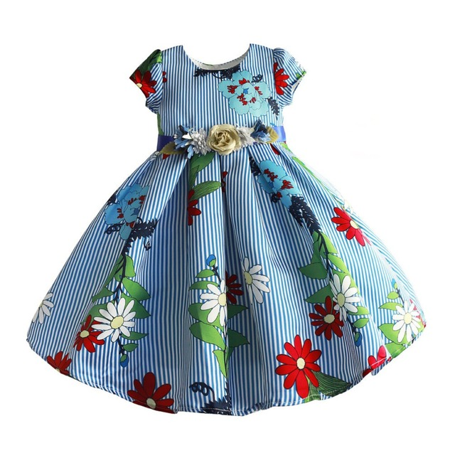 3ed63b92837c Hetiso Girls Flower Dress Kids Frocks For Girl Party Dresses Ball Gowns  Summer Girl Wedding Costume Children Fancy 3-8T